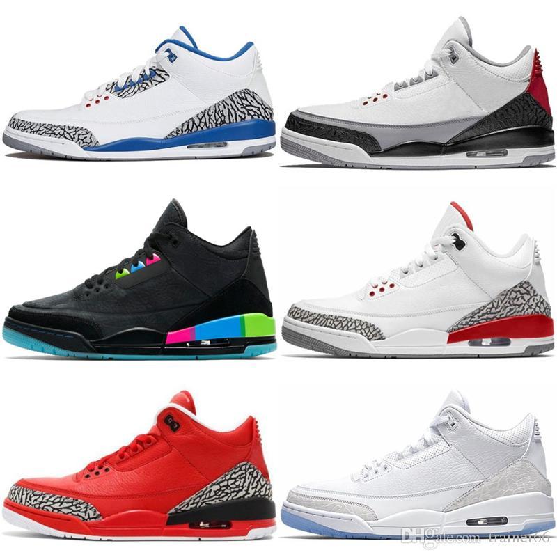 reputable site 9fe42 09328 Black Cement 3S 3 Men Basketball Shoes International Flight Tinker Free Red  Throw Line Seoul Sports Designer Sneakers 41-47