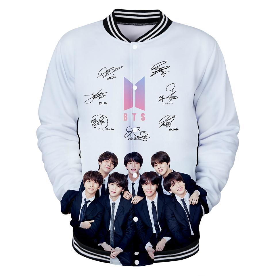 Harajuku Kpop BTS 3D Popular Baseball Jacket 3D Print Spring Women/Men 2018  Fashion Bangtan Boys Coats Casual Jacket Clothes