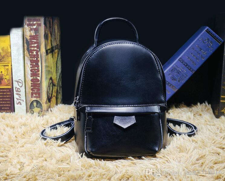 cf9828f4ad Nice PU Fashionback Women Pack Shoulder Bag Handbag Presbyopic Mini Backpack  Messenger Bag Mobile Phonen Purse M50018 Black Leather Backpack Backpacks  For ...