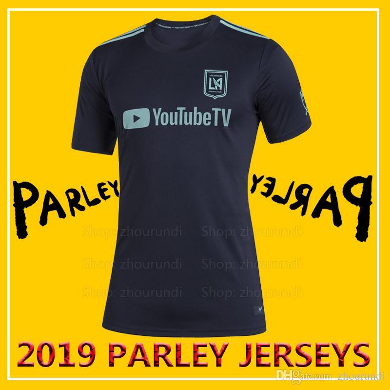 brand new 7551d 9ce62 2019 Los Angeles FC Parley soccer jerseys LAFC soccer jersey 2019 Los  Angeles FC x MLS x Parley eco-friendly jerseys Running Jerseys XXS-4XL
