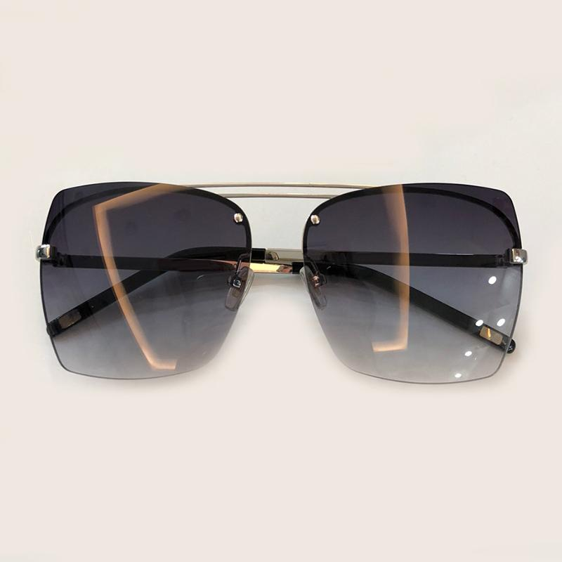 9d2910087e Rimless Men Sunglasses Brand 2018 High Quality Designer Fashion Male ...