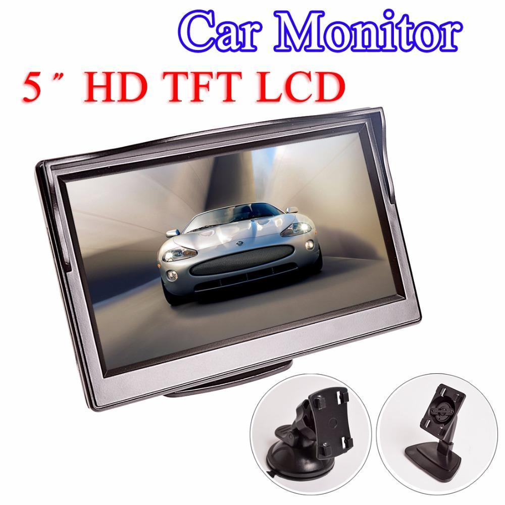 2019 5 Inch Car Monitor TFT LCD HD Digital 169 800480 Screen 2 Way Video Input For Reverse Rear View Camera DVD VCD From Tzlsasa2 2895