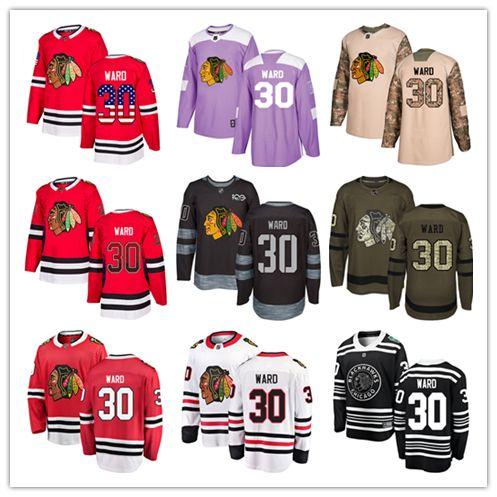 2019 Chicago Blackhawks Jerseys  30 Cam Ward Jersey Ice Hockey Men Women  Youth Black White Red Winter Classic Stiched Fanatics Jerseys From Wk1403 de91aaaa6