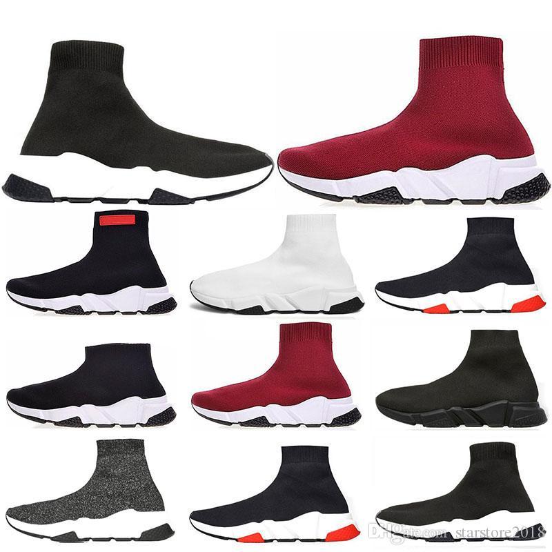separation shoes 5d87f 93c79 Scarpe Dimagranti 2019 New Speed Trainer Luxury Brand Scarpe Rosso Grigio Nero  Bianco Flat Classic Socks Stivali Sneakers Donna Scarpe Da Ginnastica ...