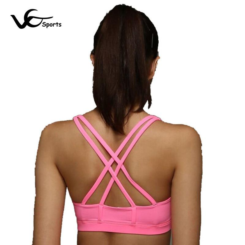 Hot Selling Shockproof sports bra Wicking Breathable Zero Bound No Rims Running Yoga Black White Blue Green Yellow Pink Purple
