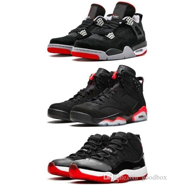los angeles e0e96 4e7ee 11 Bred 11s 6 Black Infrared 6s 4 Bred 4s Top Quality Basketball shoes With  Box Men Sneakers Sports shoes Wholesale