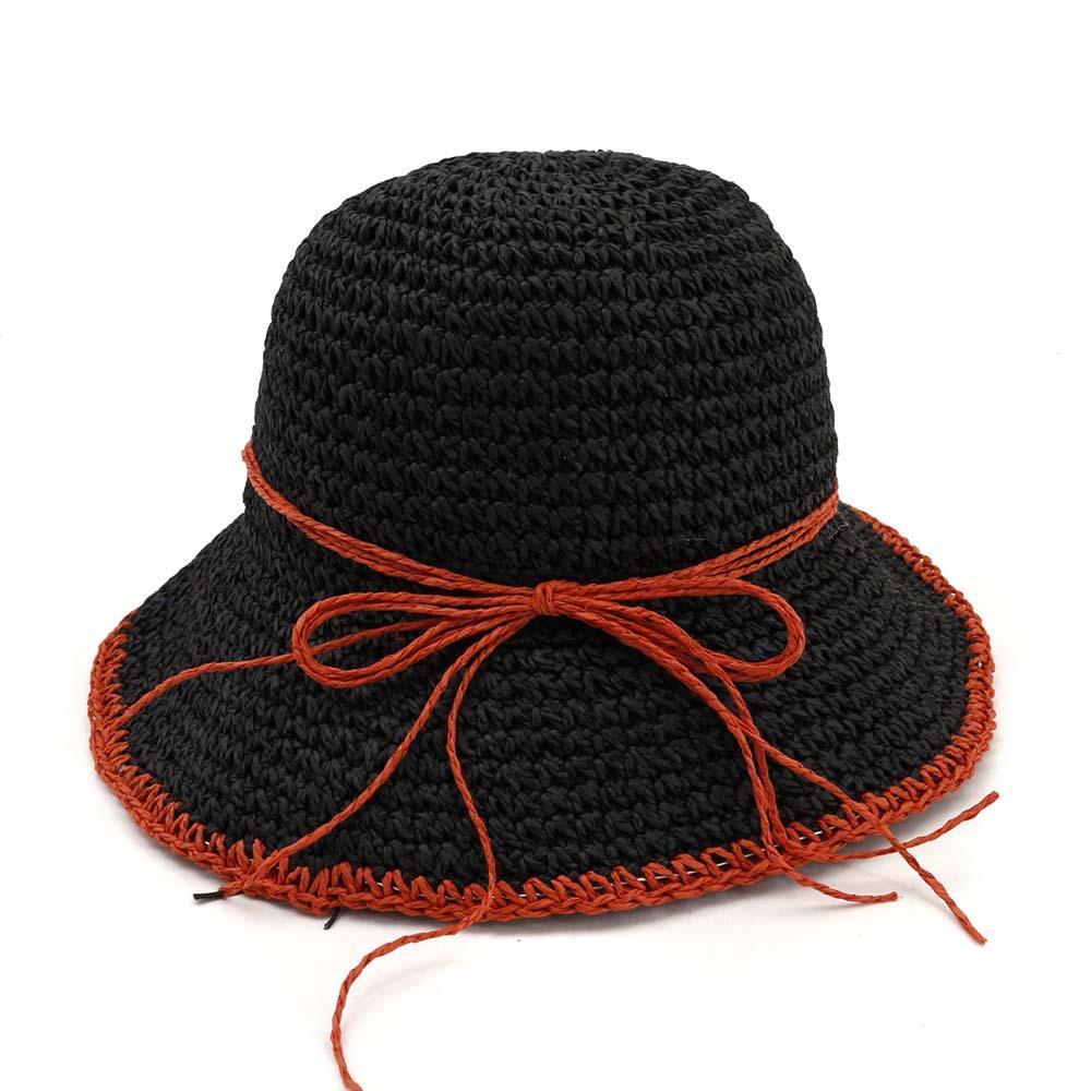 1e1d3d6f2 2019 simple summer panama handmade weave beach straw cap women hat dome  floppy travel outdoor fisherman hat