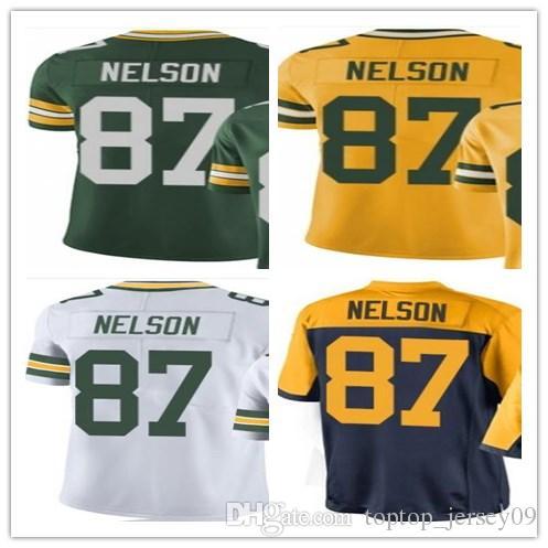 65795007e Cheap 2018 Top Can Custom Green Bay Packers Jerseys  87 Jordy Nelson Men  WOMEN YOUTH Men s Baseball Jersey Majestic Stitched Sportswear