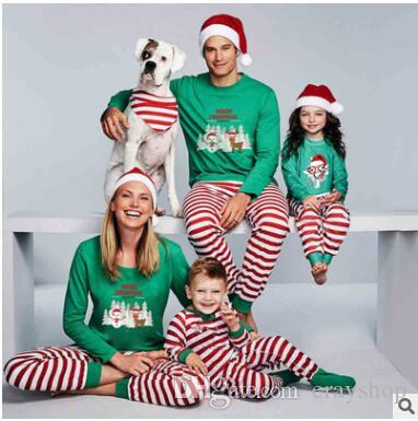 Xmas Kids Adult Family Matching Christmas Pajamas Letters STOP Elfing  AROUND Striped Nightclothes Pyjamas Sleepwear 2018 New 270 Pyjamas Kids  Boys Pajama ... 19192d9f4