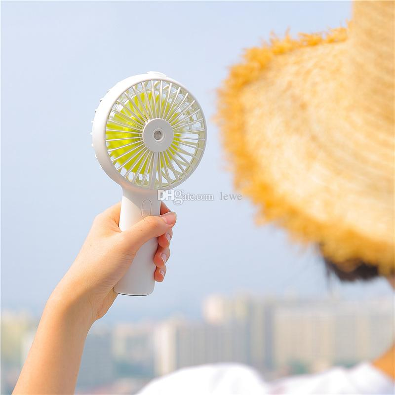 Mini Water Mist Fan mini Protable Electric Fans rechargeable desk electric Air fan strong airflow with 3 setting fan