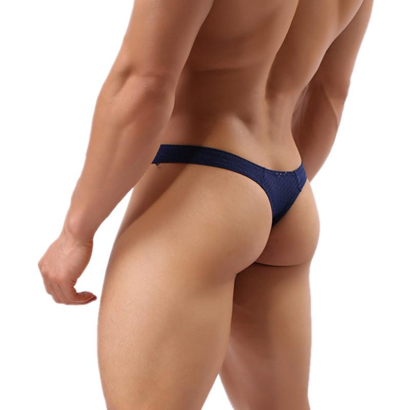 2019 Men Underwear Bikini Thong Breathable Comfortable Solid Sexy