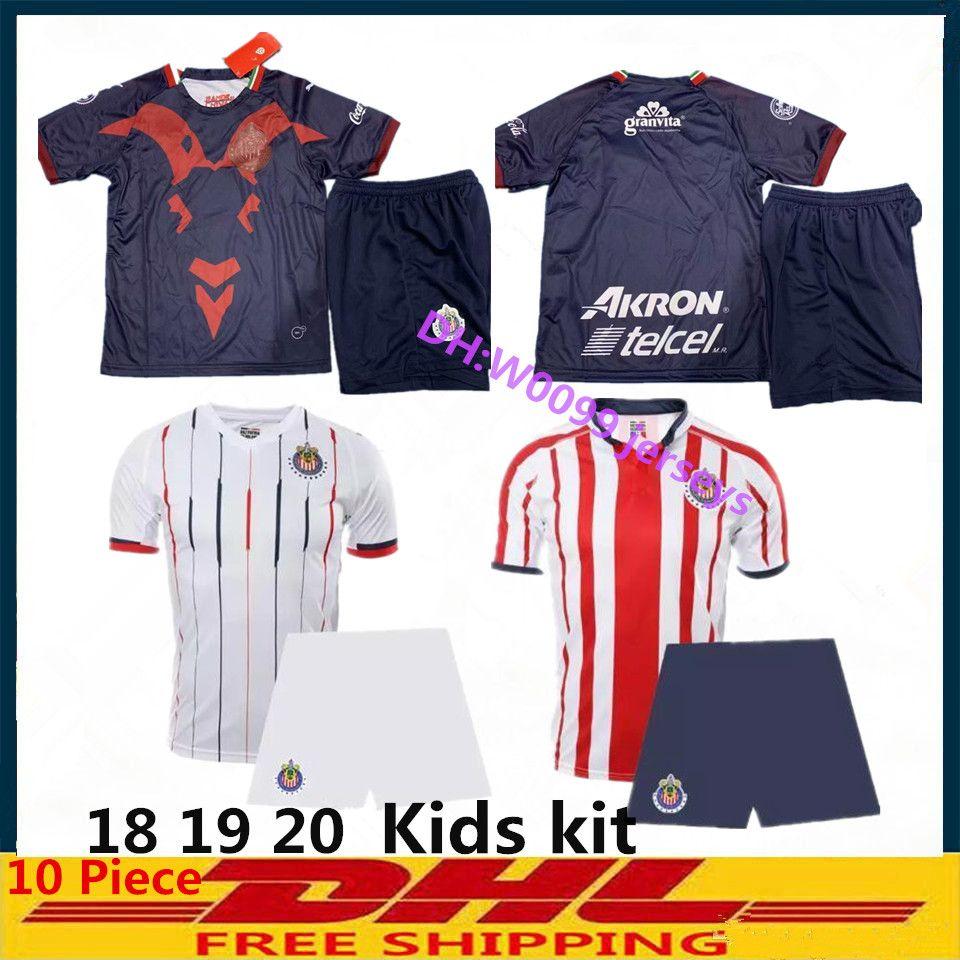 18 19 20 Chivas soccer jerseys kids kit Chivas boy soccer shirt 2018 2019  2020 O BRAVO REYNA A PULIDO Mexico Football Shirts