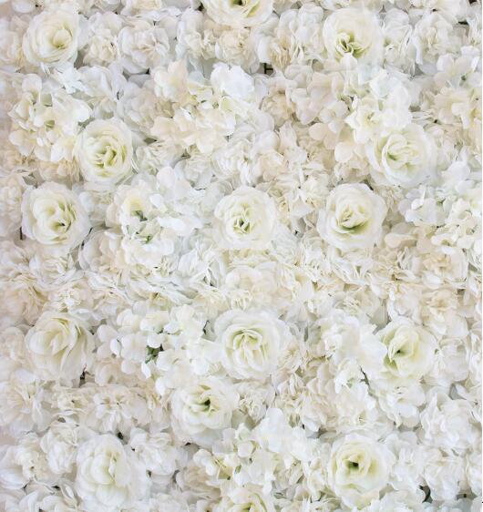 FIORE ARTIFICIALE WALL 60X40CM ROSE HYDRANGEA PANNELLO DI MATRIMONIO sfondo sfondo la decorazione del partito nozze cliente