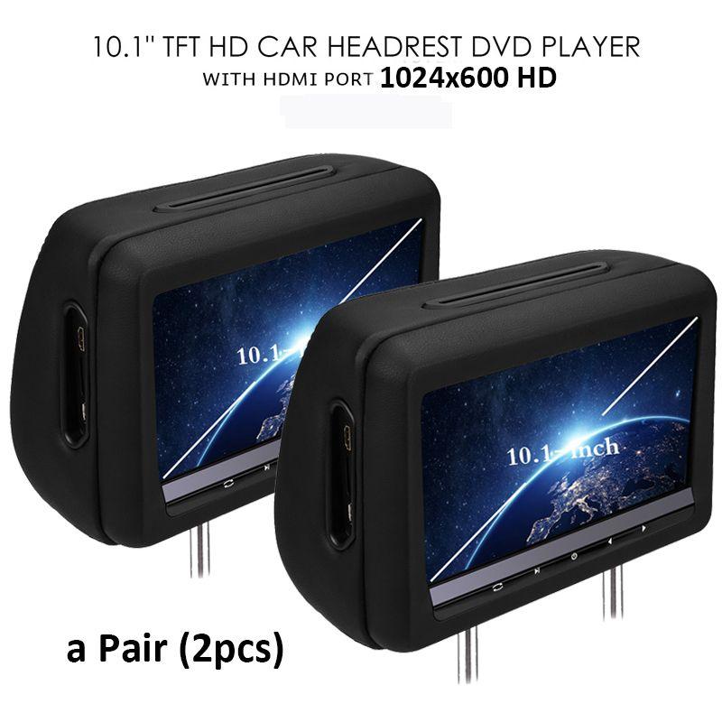 Pleasing Universal 10 1 Inch Car Dvd Dual Headrest Screen Player Black Hdmi Wiring Cloud Pendufoxcilixyz