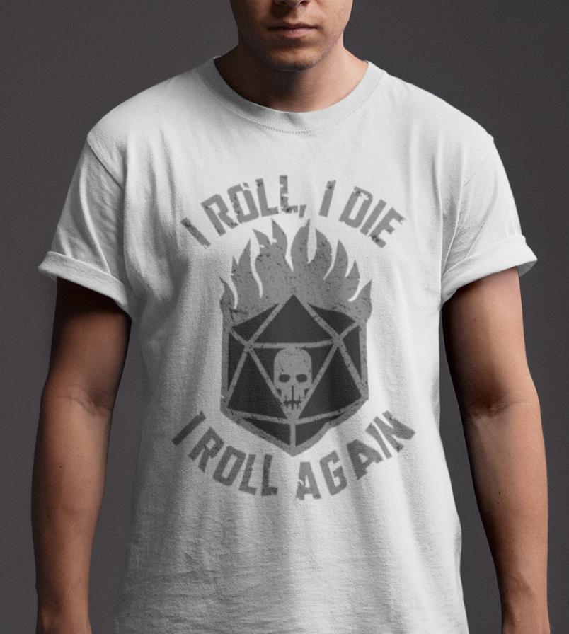 ae333a5034 Compre Mad Max T Shirt Eu Rolo Eu Morro Inspirado Meninos Da Guerra Do  Filme Retro Presente Do Filme Pai 70 S 80 S Engraçado Frete Grátis Casual Tshirt  Top ...