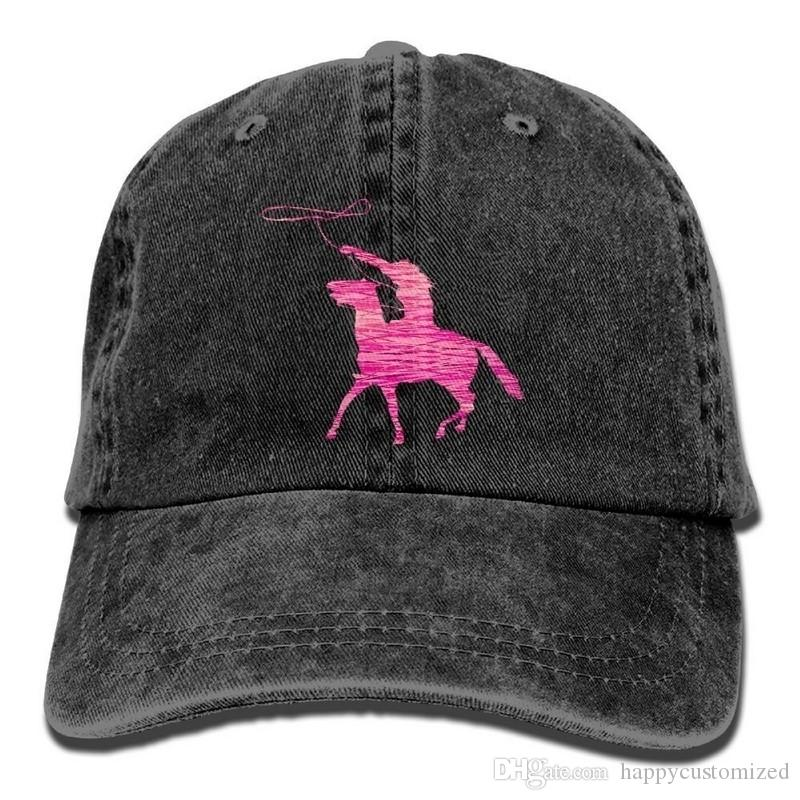 Adults Pink Riding Horse Denim Baseball Caps Golf Bill Caps Mens Cute  Washed Twill Denim Hats Neweracap Cap Hat From Happycustomized adc50478797