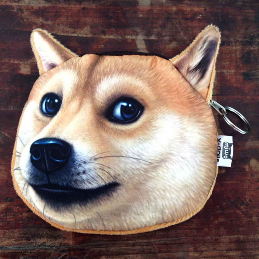 Innovative Coin Purses Shiba Inu Akita Dog Husky Doge Money Fashion Girl Women Lady Wallet Earphones Storage Coins Purse Bags