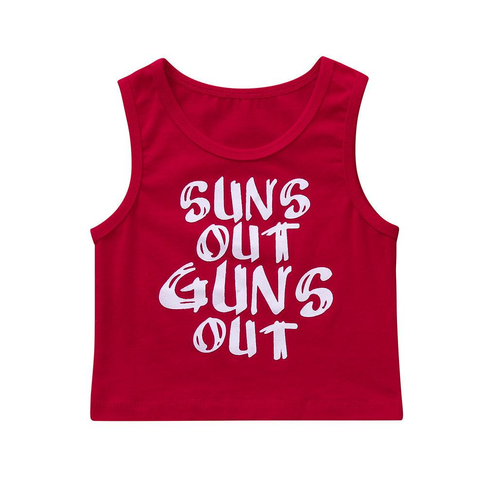 172056cf9 2019 Good Quality Children Clothes Boys T Shirt 2019 Summer Sleeveless O  Neck Tee Shirt Letter Print Boys Girls Tops Drop Shipping From Victorys02,  ...