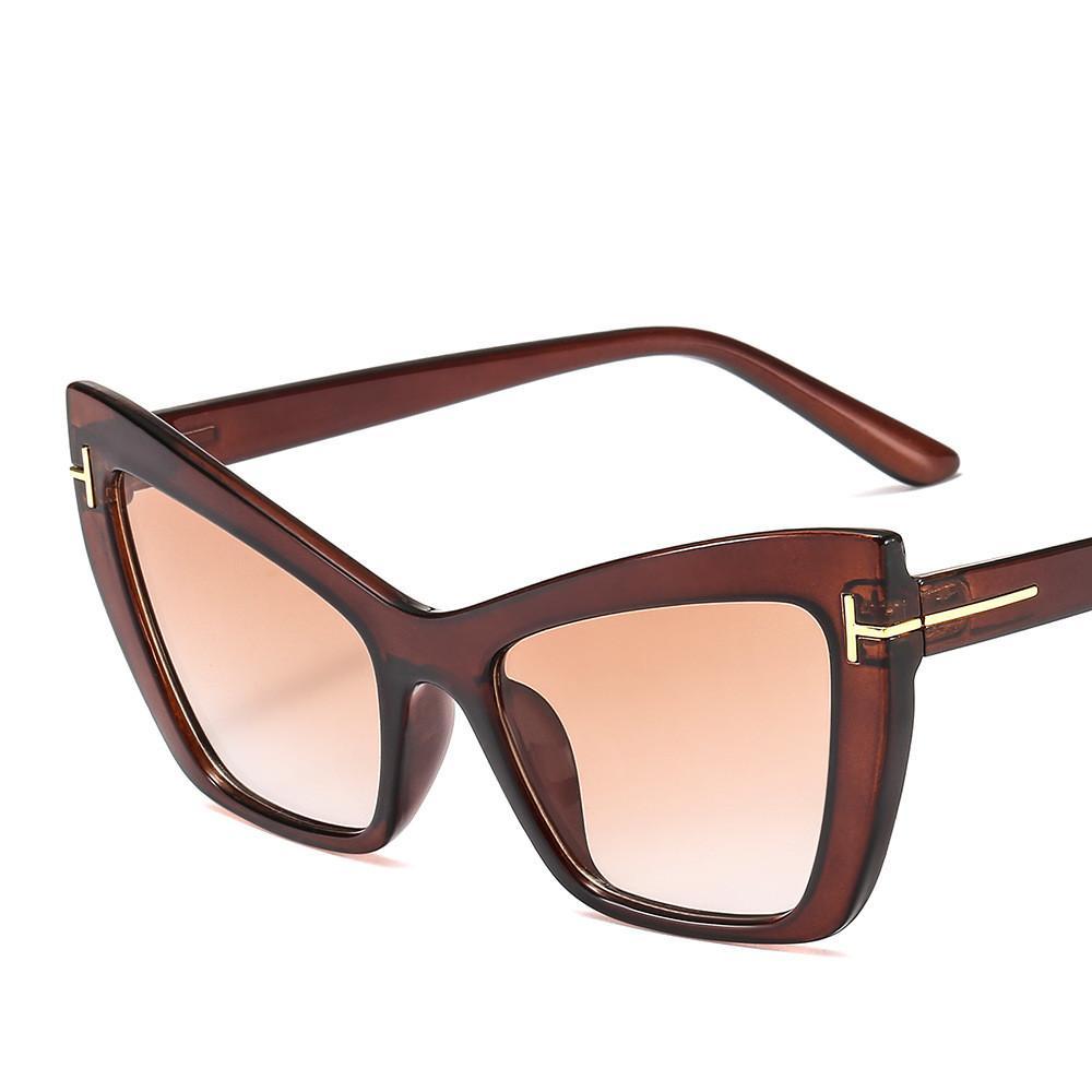 e4513c2b7f 2019 New Square Sunglasses Luxury Brand Women Popular Glasses Designer Cat  Eye Gradient Sunglasses High Quality UV Protection Trendy Eyewear Victoria  ...