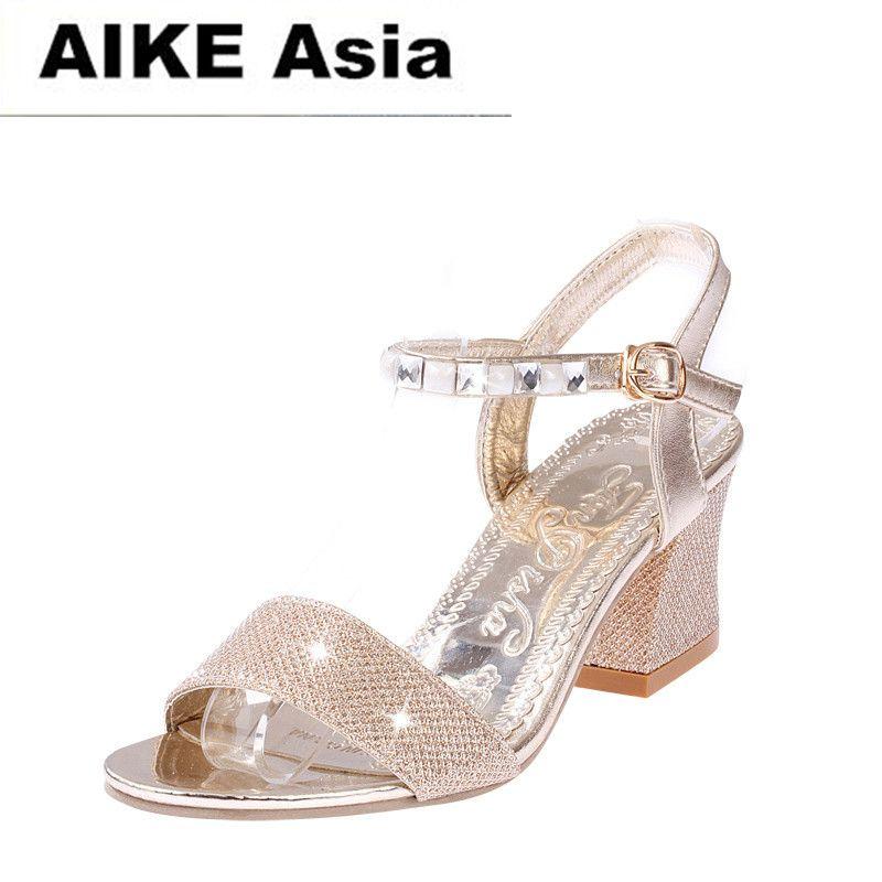 6141c2be91d5e6 Designer Dress Shoes 2019 Summer Women Sandals Sexy High Heels Women Pumps  Women Gold Silver Sandals Heels Ladies Peep Toe Orthopedic Shoes  Comfortable ...