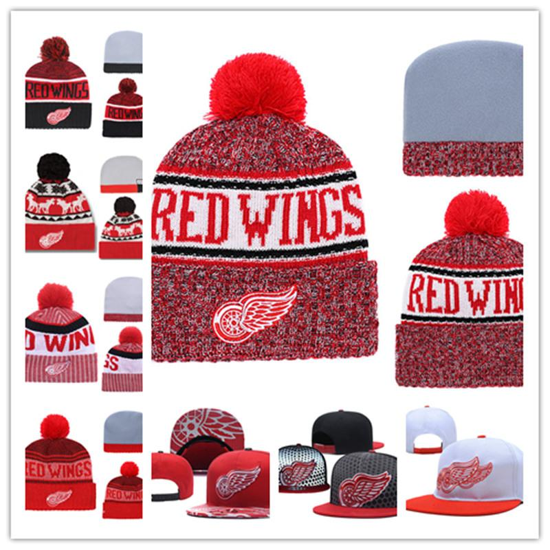 f02cd9e4426a7e 2019 Detroit Red Wings Knit Hat White Grey Red Black Detroit Red Wings  Snapback Caps Adjustable Cap One Size Fit Most From Xt23518, $9.58 |  DHgate.Com