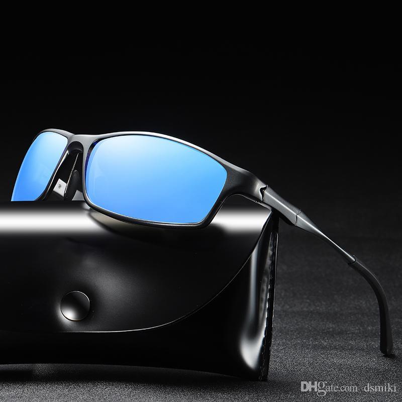 cfe112aab6735 Compre 2019 Nova Condução Polarizada Óculos De Sol Para Homens Proteção UV  Ultra Leve Al Mg Golf Pesca Esportes Óculos De Sol De Dsmiki