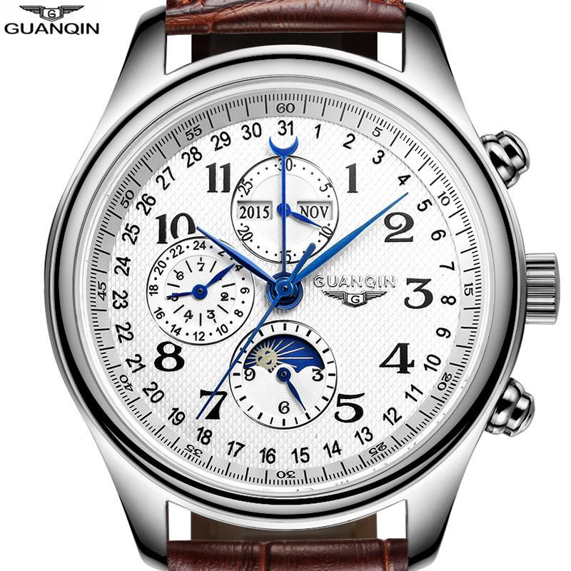 a830d88d95e8 Guanqin Luxury Waterproof Sapphire Reloj mecánico Relojes ...