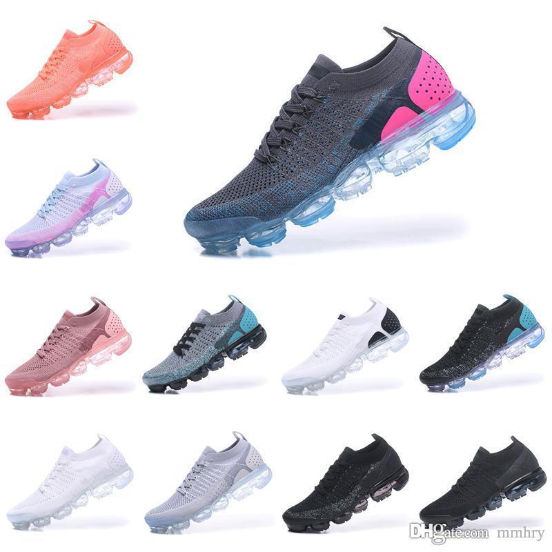 finest selection 508d4 eb6fc Acheter 2018 Courir Chaussures Tissage Racer Ourdoor Athlétique Designer  Sportif Marche Baskets Pour Femmes Hommes Mode Luxe Course Maxi Taille 36  45 De ...