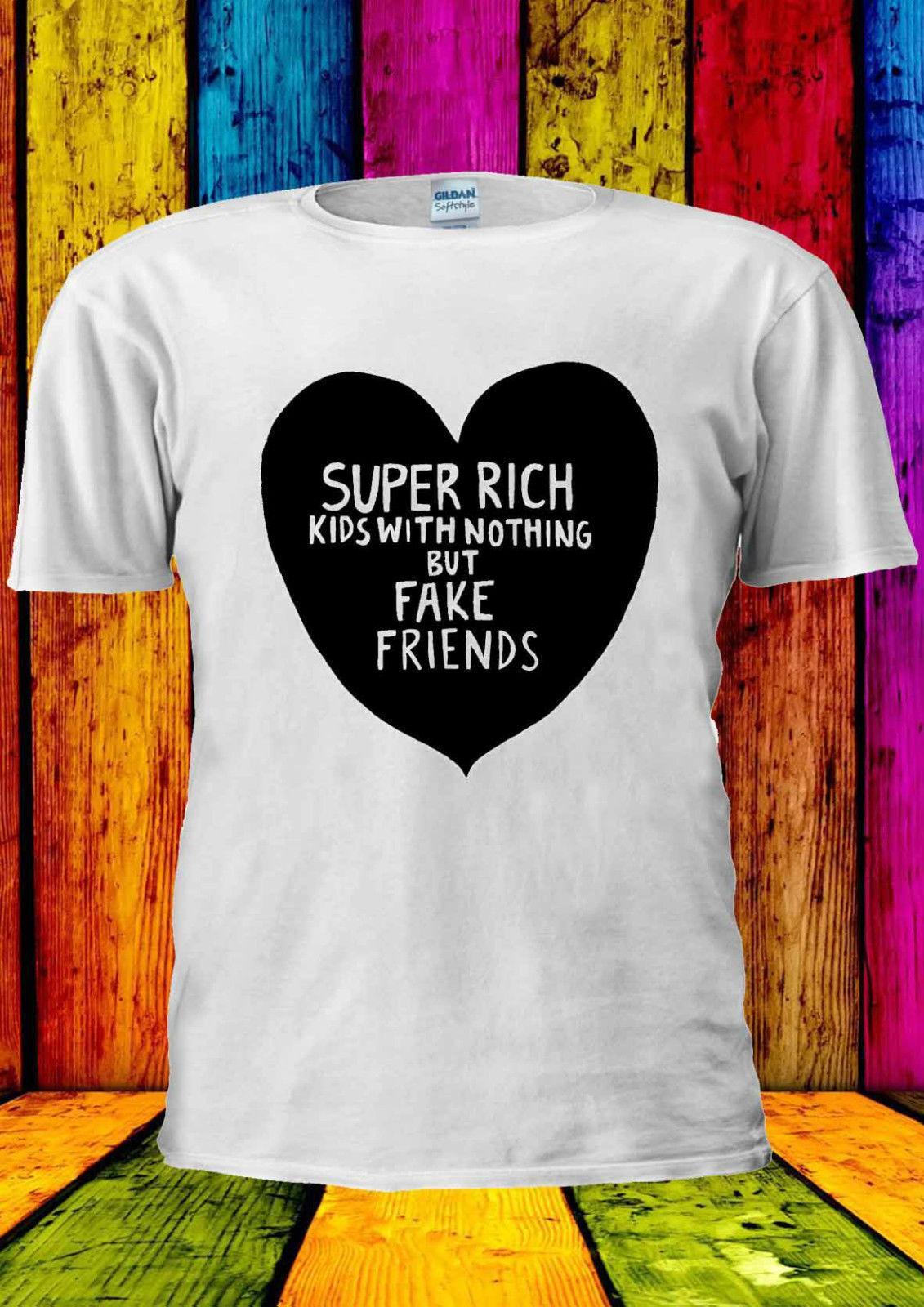 dcfa6e6ca674e Super Rich Kids With Nothing But T-shirt Vest Tank Top Men Women Unisex Top  Free Shipping T-shirt Harajuku Summer 2018 Tshirt