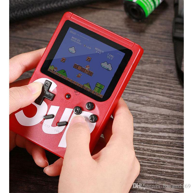 New 400 in 1 SUP Mini Handheld Game Console Retro Portable Video Game Console Can Store 400 Games 8 Bit Inch LCD Cradle Design Fc games