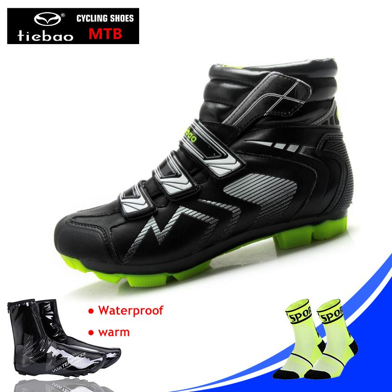 a954eed449 2019 TIEBAO Winter Cycling Shoes Sapatilha Ciclismo MTB Sneaker Men Warm  Cycle Cover Cycling MTB Bike Self Locking Shoes Bicycle Boot From Curtainy