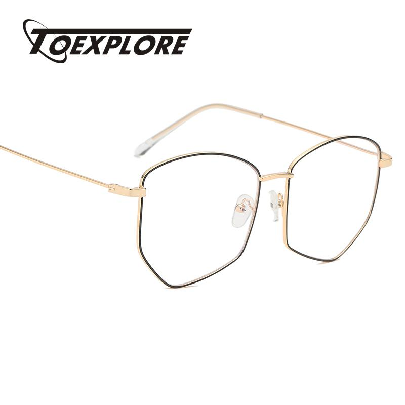 b9a5d275de3 TOEXPLORE Men Women Metal Eyewear Frame Vintage Retro Luxury Goggle ...