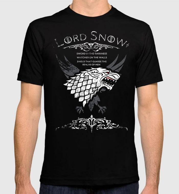 Mujer Divertida Jon Got Camiseta Con House Game Estampado Snow De 100Algodón Thrones Para Stark Hombre Of T3ucKl1FJ