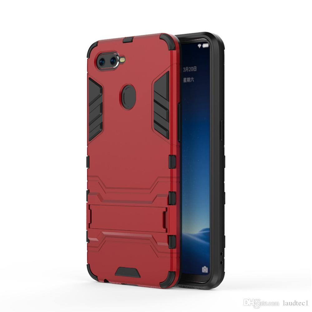 2 in 1 back Protection Shockproof + Anti-Skid Phone Case for OPPO F9 Pro Cover for OPPO F9