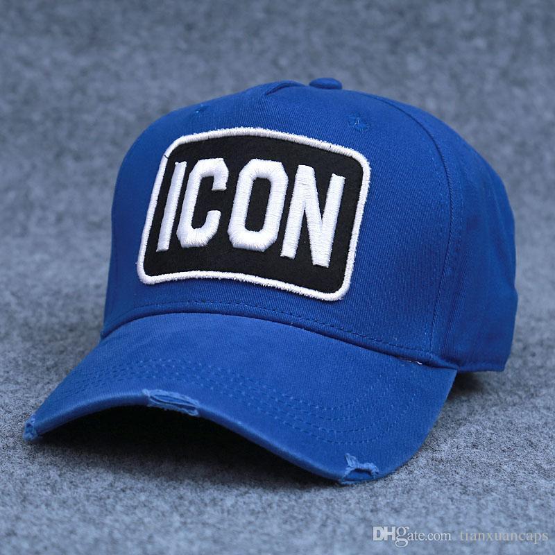 f42609365 Blue ICON D2 Hat New Arrival Unisex Casual Baseball Cap 100%Cotton Two  colors good quality D2 Cap