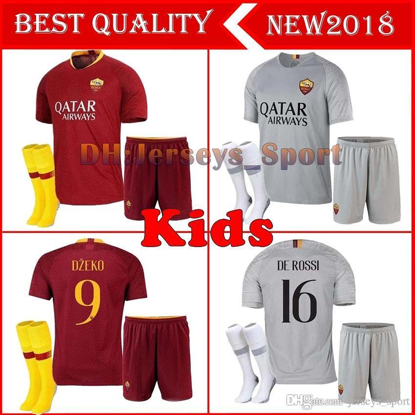 a022fd82e 2019 2018 2019 Kids Rome Home Away Third Soccer Jerseys Totti Dzeko  Nainggolan Futbol Camisa As Football Camisetas Shirt Kit Maillot Roma As  Roma From ...