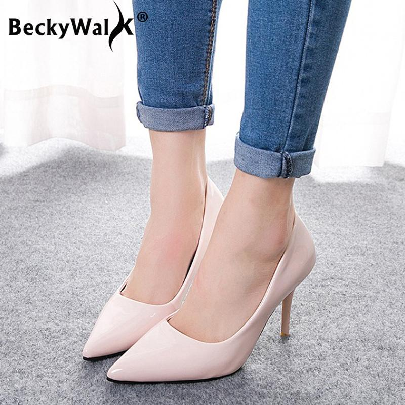09e04c61db2a Shoes Summer Pumps Women Candy Color Slip On Shallow Ladies Wedding Pointed  Toe High Heels Pump Chaussures Femme Wsh3171 Dansko Shoes Tennis Shoes From  ...