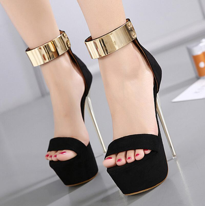 46fb072cce Hot Brand New Women Sandals Super High Heels Summer Party Shoes 16cm Open  Toe Hollow Out Banquet Platform Dress Shoes High Heel Shoes Wholesale Shoes  From ...
