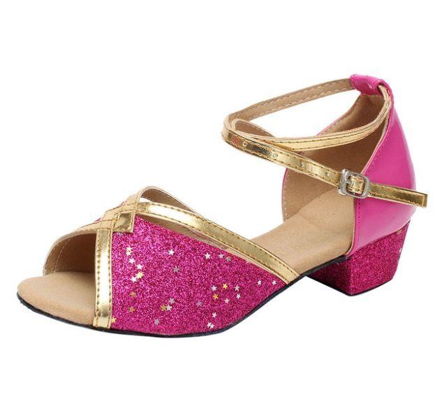 ff47780c1 Compre Zapatos Baratos Para Niñas Niños Pequeños Bebés Princesa Danza Tango  Latina Niños Sandalias Para Bebé Moda Zapatos Nuevos A  13.55 Del Wangfa88  ...