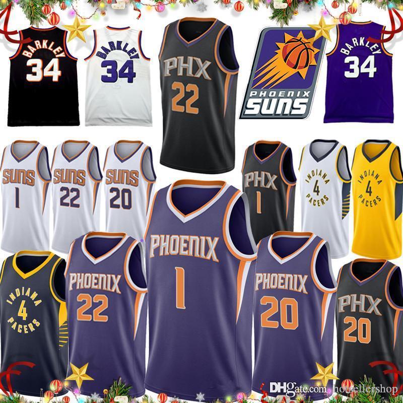 best service d319f 5309e Denver 1 Booker Phoenix jersey Suns city edition Josh 20 Jackson DeAndre  Ayton Indiana jersey Pacers Victor 4 Oladipo basketball jersey tops