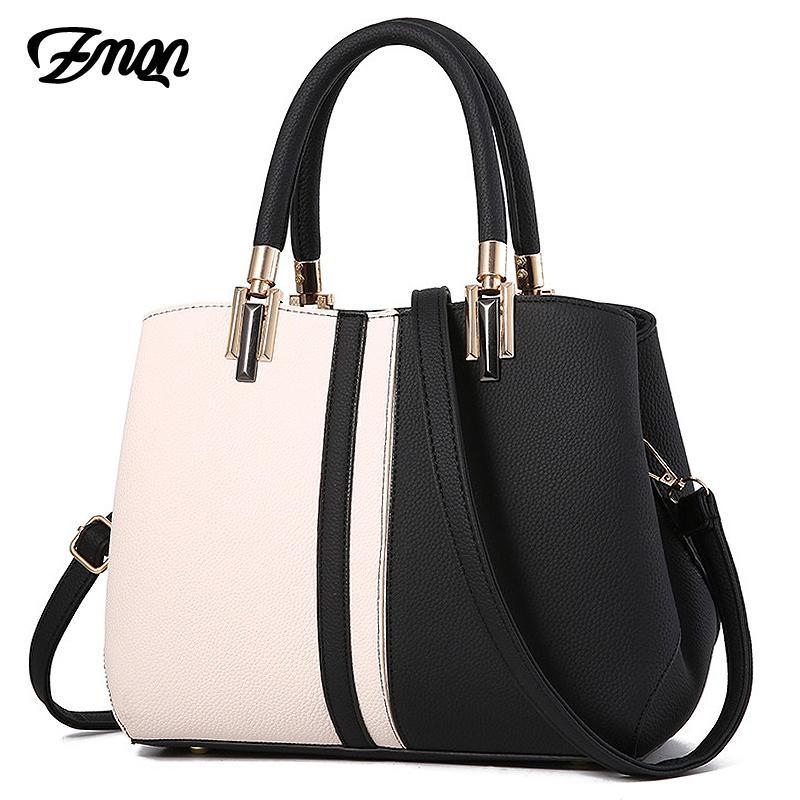 986607e6434 ZMQN Women Handbags Luxury Handbag Women Bags Designer Leather Bags For  2019 Fashion Panelled Shoulder Bag Female Kabelka A709