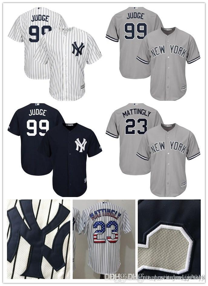 New York Yankees Aaron Judge 99 Jersey Don Mattingly 23 Baseball ... dc39792408d
