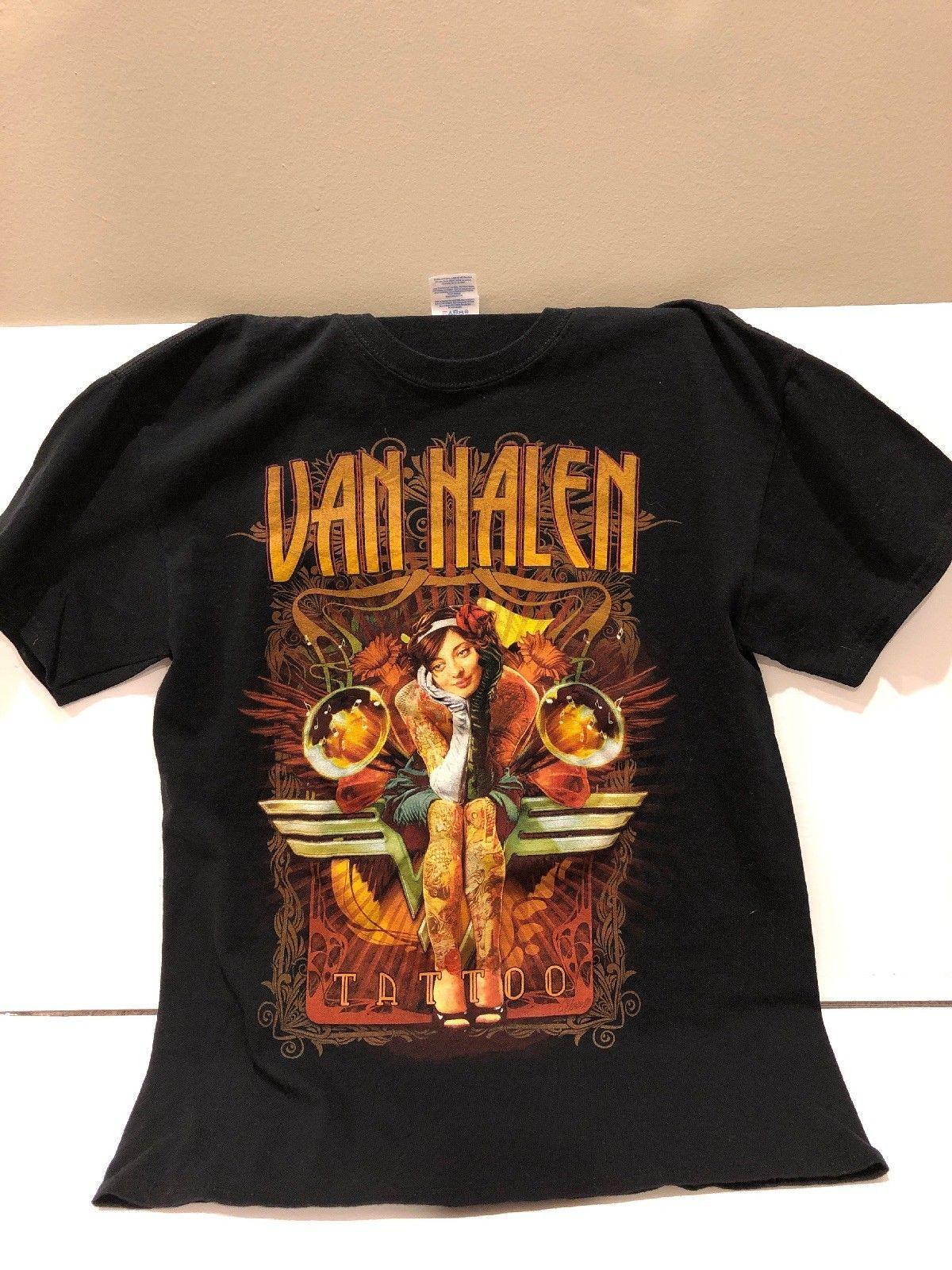 36ceef456 Van Halen Tattoo 2012 Tour T Shirt Black Rock Band Music Concert Eddie Sz M  Rude Tshirts Offensive Tee Shirts From Designtshirts201806, $13.91|  DHgate.Com