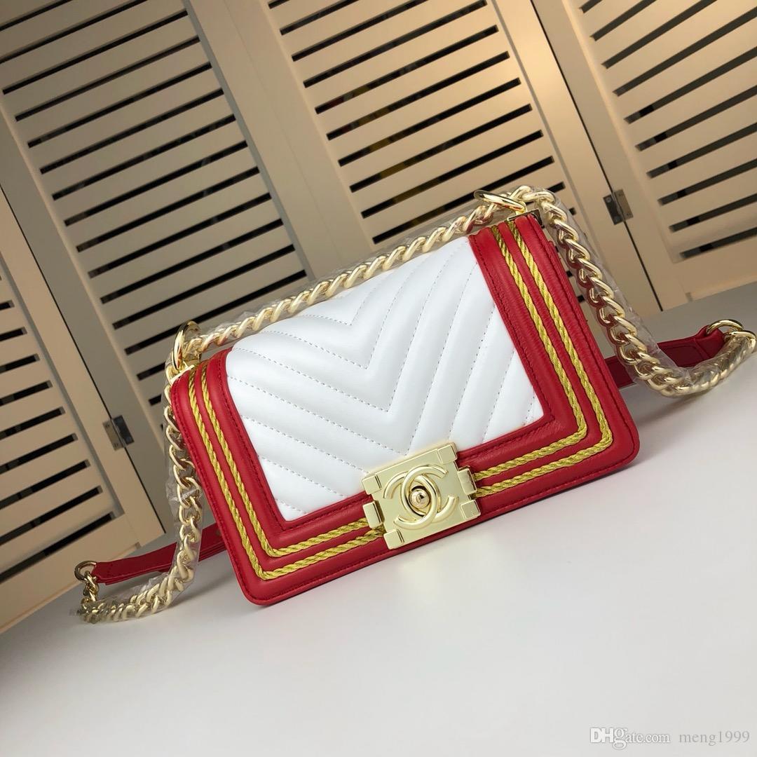 857e44d4cb2 2019 womens handbag bag new portable small square bag messenger chain bags  crossbody bag strap single-shoulder bags size:20*12*7cm