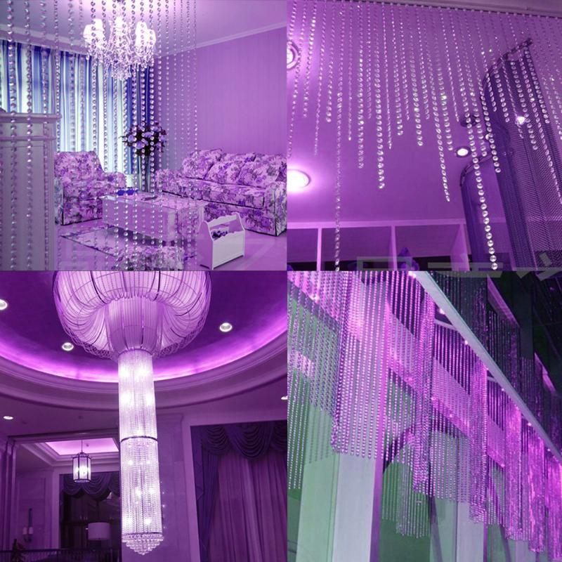5 m di lusso filo diamantato perline di cristallo acrilico catena bianco chiaro decorazioni matrimoni decorazioni tende porte e finestre