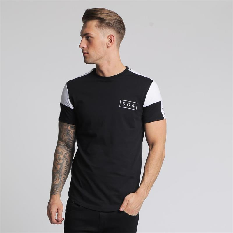 0c11faa9 New Men's Running T Shirt Patchwork Short Sleeve cotton Fit Slim Soccer  Jerseys Sports Clothing Gym fitness Training Sportswear