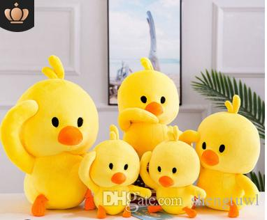 Nueva red red tiemble baby yellow duck duck pillow plush toy chicken doll doll