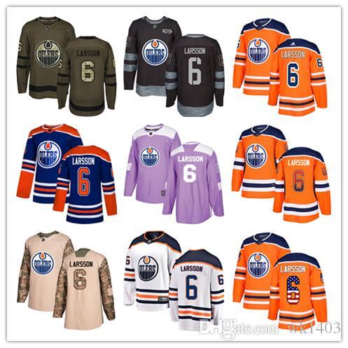Edmonton Oilers Jerseys  6 Adam Larsson Jersey Hockey Men Women Youth Royal  Blue Orange White Home Breakaway Stiched Authentic Jerseys UK 2019 From  Wk1403 ab97daea3