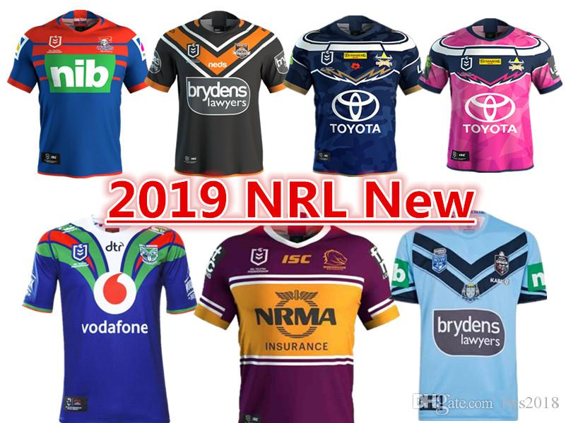 68f6e8396bf 2019 NEWCASTLE KNIGHTS WESTS TIGERS NORTH QUEENSLAND COWBOYS BRISBANE  BRONCOS NSW BLUES HOME JERSEY Size S-3XL 2018 MELBOURNE STORM JERSEY SYDNEY  ROOSTERS ...