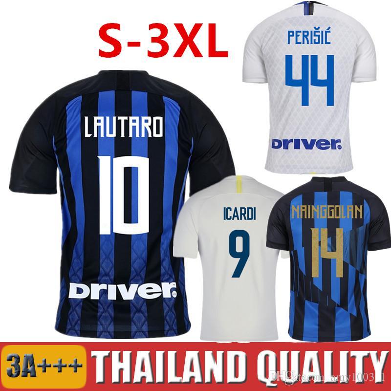 562e49f75abc 2019 18 19 LAUTARO ICARDI Inter Soccer Jersey PERISIC 2018 2019 Milan  Football Shirt POLITANO NAINGGOLAN 20 Anniversary Men Women Kids Maillot  From ...